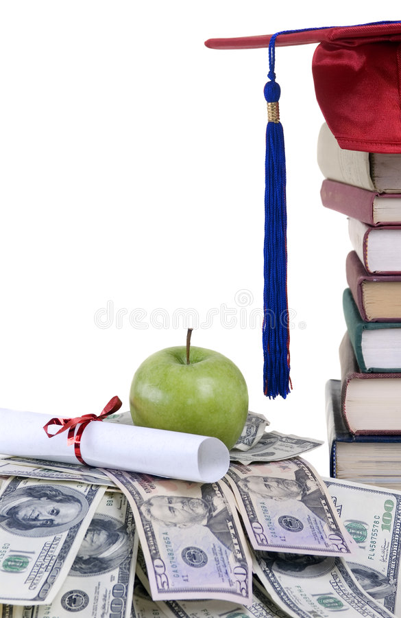 学院货币 免版税图库摄影