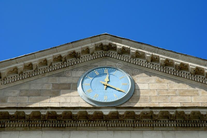 学院都伯林入口主要三位一体 免版税图库摄影