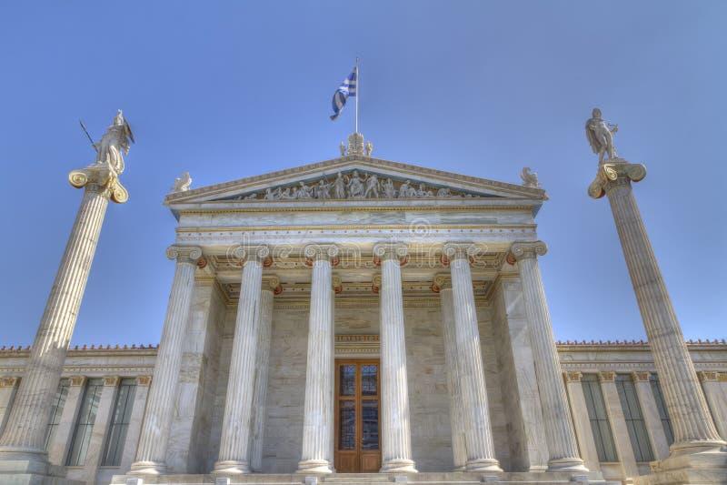 学院雅典希腊 库存图片