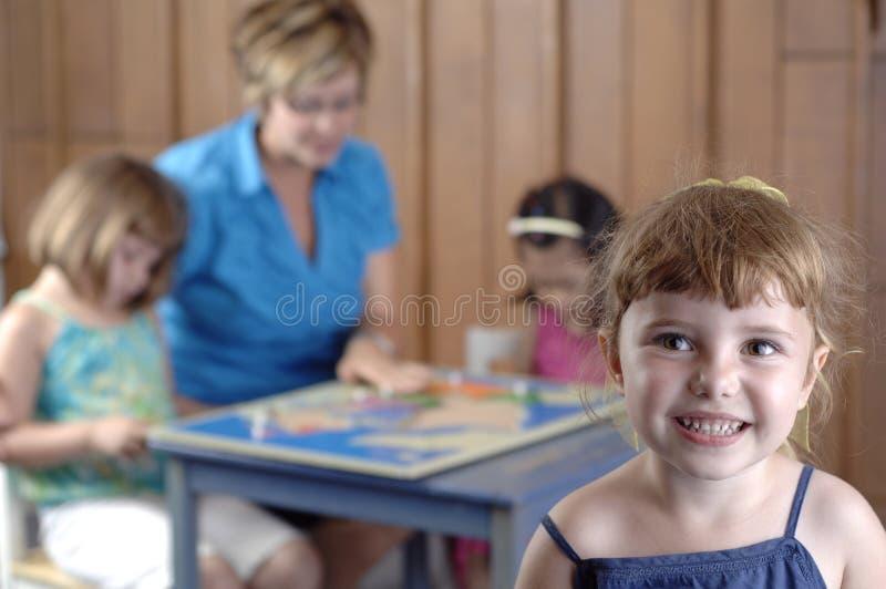 学龄前的子项 图库摄影