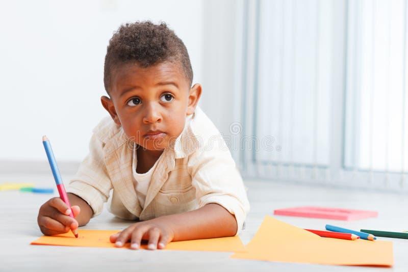 学龄前非洲孩子 免版税库存图片