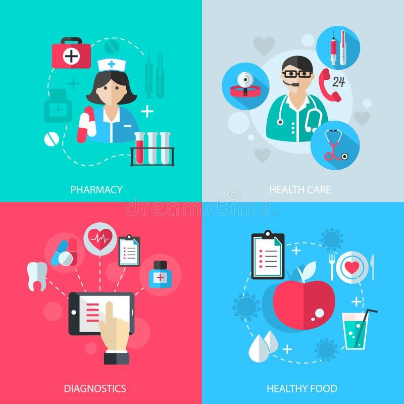 医学医疗保健为概念服务 库存例证