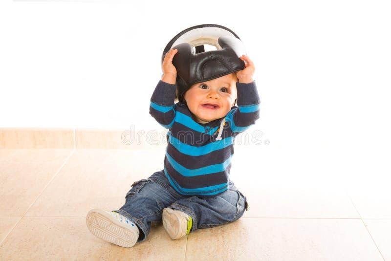 婴孩使用 免版税图库摄影
