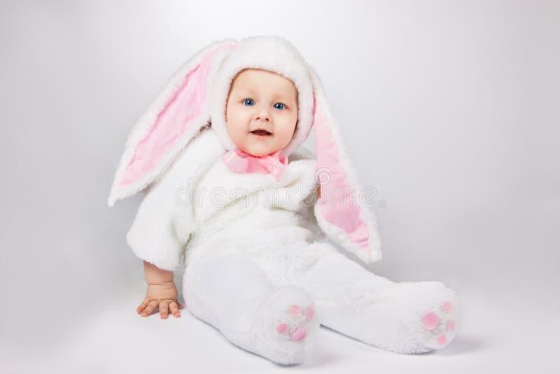 婴孩兔宝宝服装 库存图片