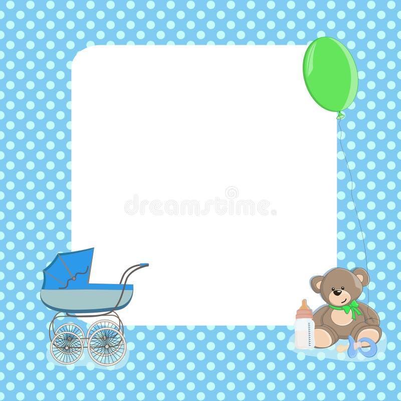 婴孩加点背景 库存图片