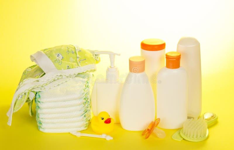 婴孩化妆用品 库存图片