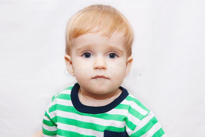 婴孩和一半的画象几年 库存照片