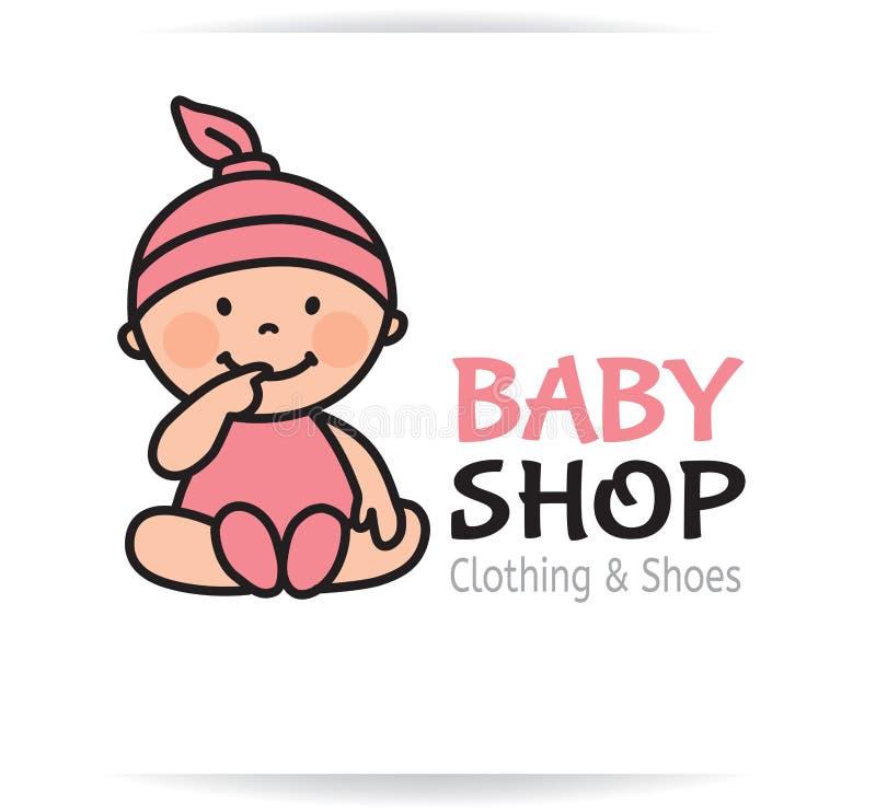 婴孩商店商标 库存例证