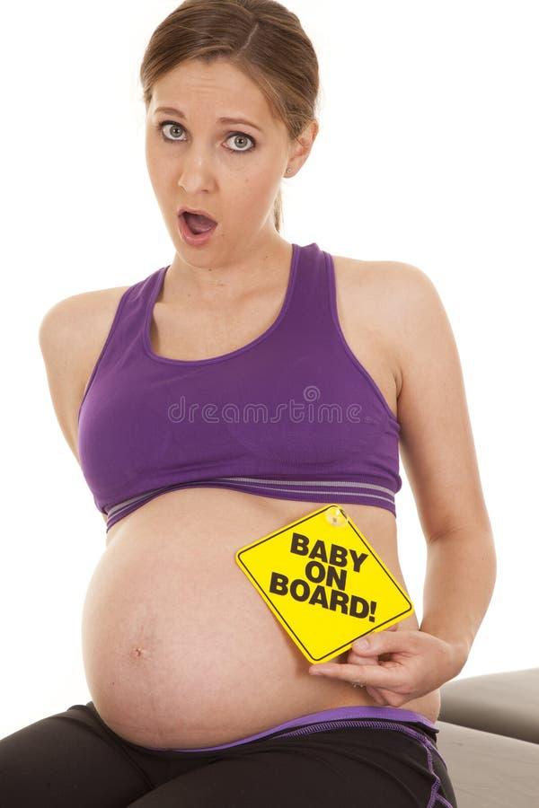 婴孩在船上震惊 免版税库存图片