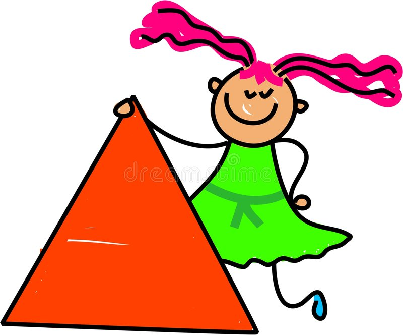 孩子三角 库存例证