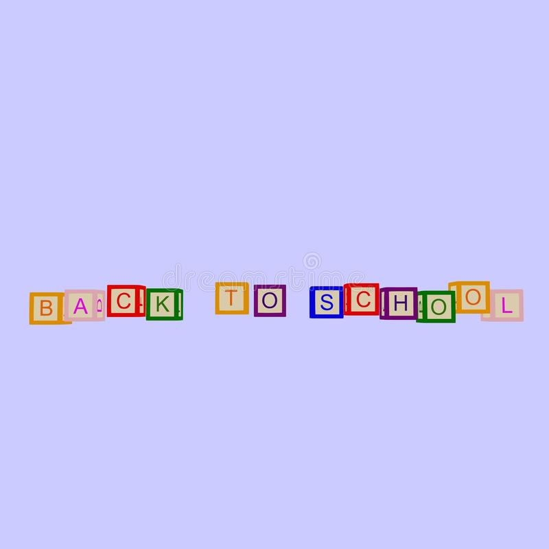 孩子上色与信件的立方体 r ?? 皇族释放例证
