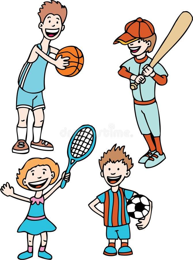 孩子体育运动 皇族释放例证