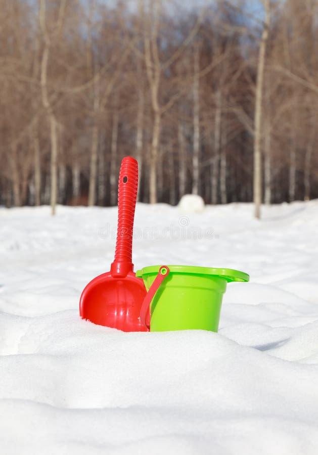孩子作用冬天 免版税库存图片