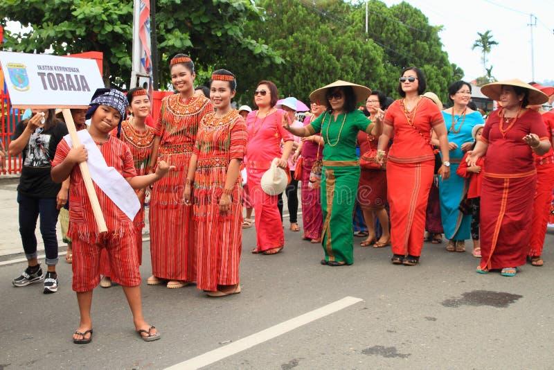 孩子和妇女从Toraja -苏拉威西岛Selatan 库存照片