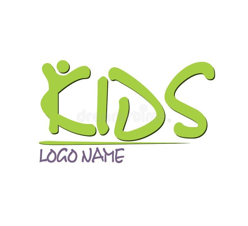 孩子商标设计传染媒介 库存例证