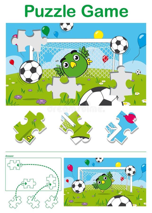 孩子困惑与一个逗人喜爱的鸟足球守门员 库存照片