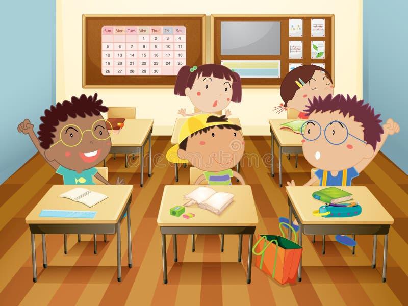 孩子在学校 向量例证
