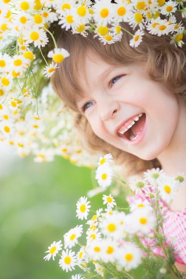 孩子在春天 免版税图库摄影