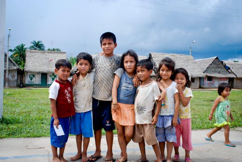 孩子在秘鲁 图库摄影