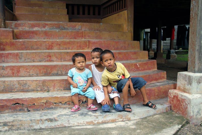 孩子在马来西亚 免版税图库摄影