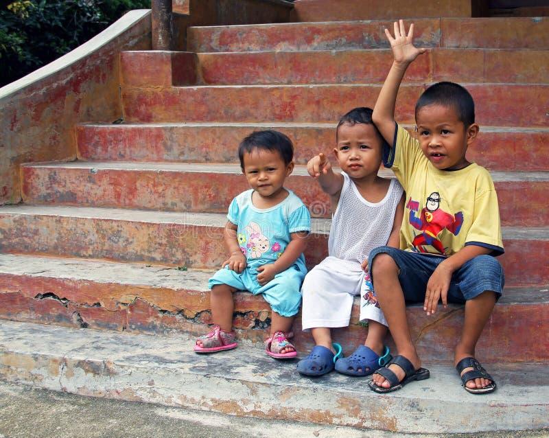 孩子在马来西亚 免版税库存图片