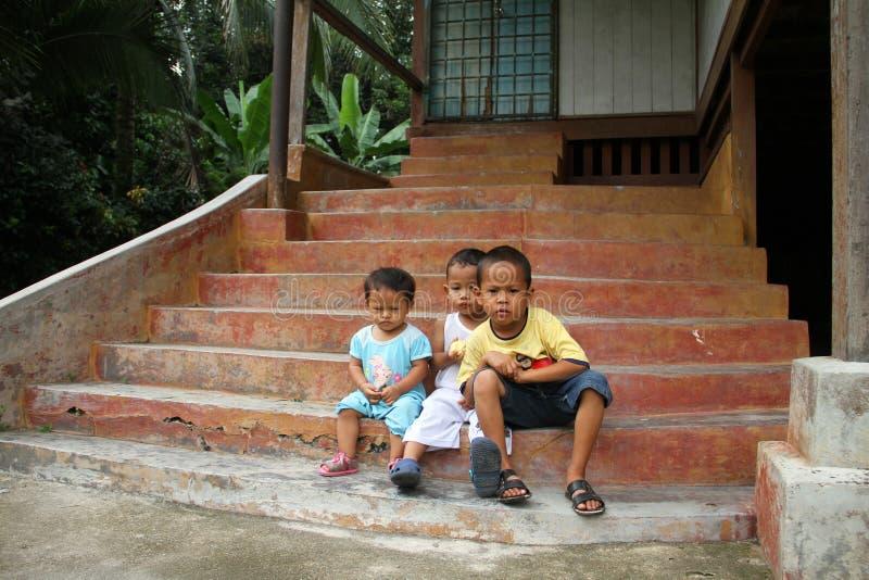 孩子在马来西亚 库存图片