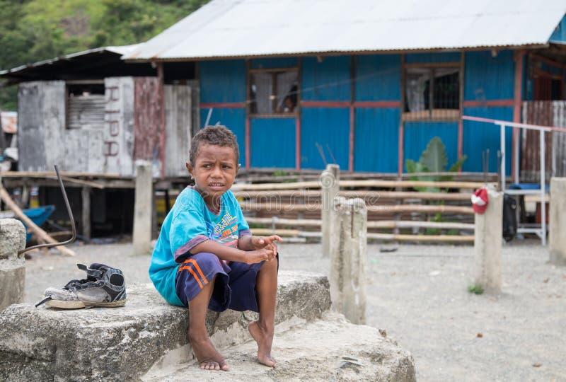 孩子在巴布亚 图库摄影