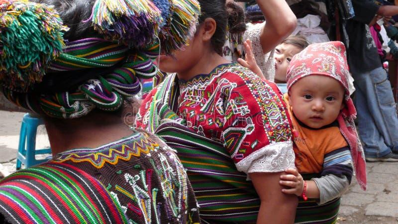 孩子在Nebaj,危地马拉 库存图片