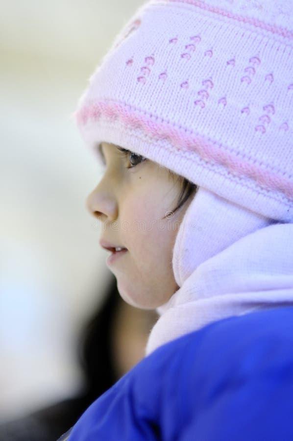 孩子季节白色冬天 图库摄影