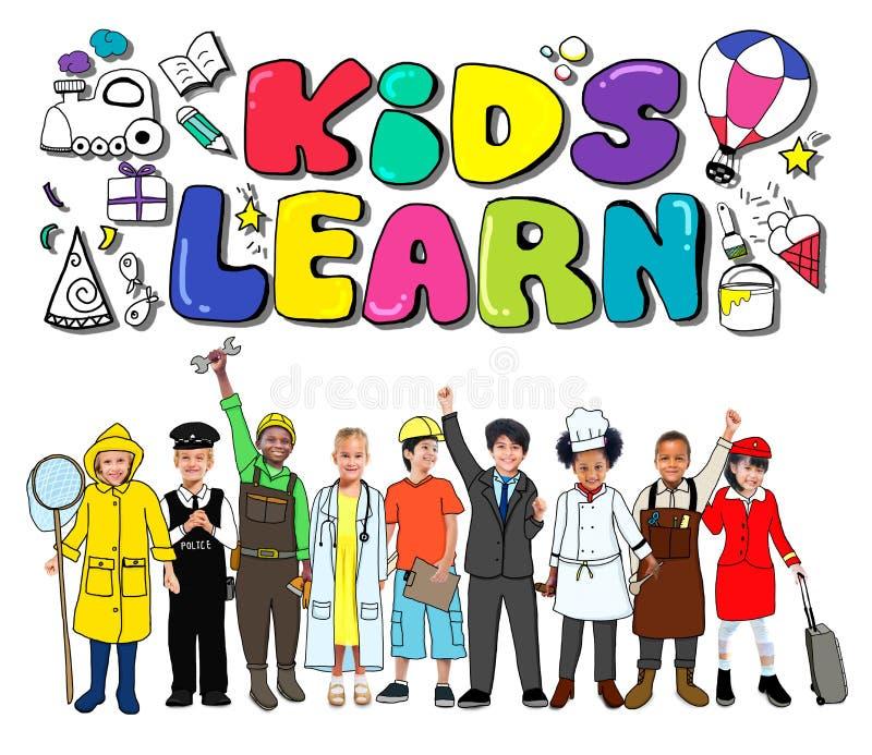 孩子学会教育创造性儿童想法概念 向量例证