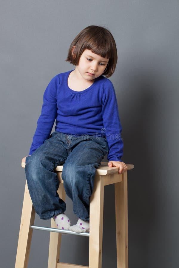 孩子平静概念 库存照片