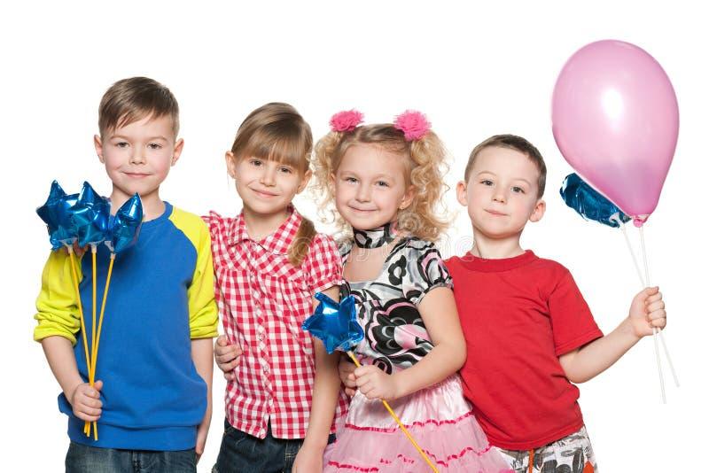 孩子庆祝生日 库存照片