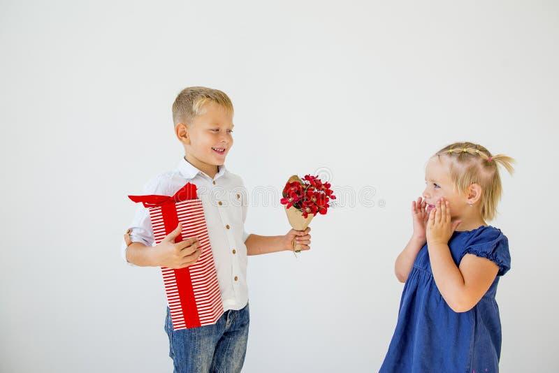 孩子情人节 免版税库存照片