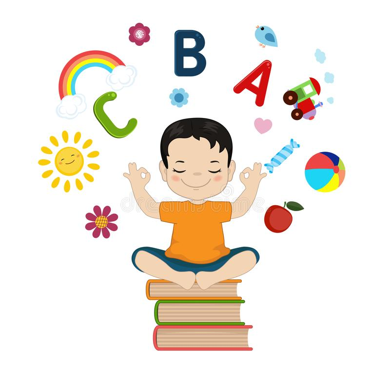 孩子想象力的传染媒介例证 库存例证
