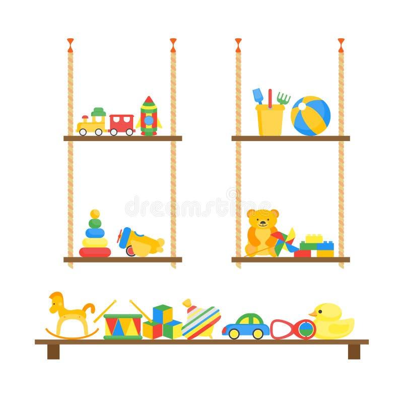 孩子戏弄家的颜色架子 向量 向量例证