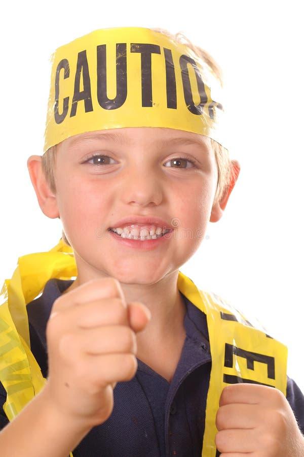 孩子打孔机安全性 库存照片