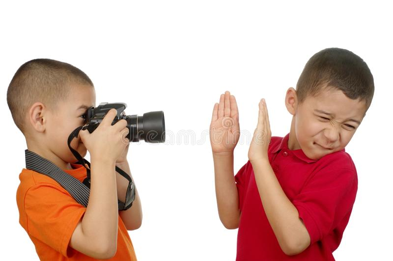 孩子拍照 库存照片
