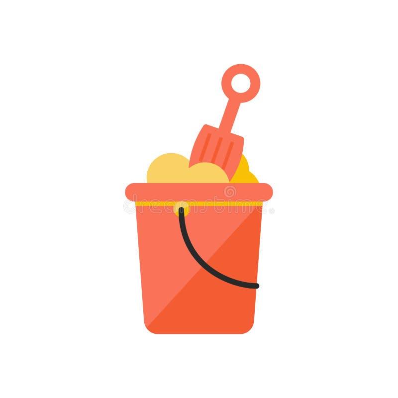 孩子桶和铁锹 库存例证