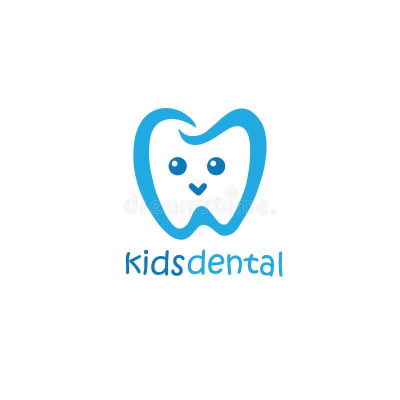 孩子牙齿商标例证设计吉祥人 皇族释放例证