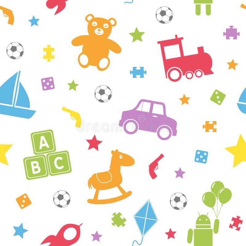 孩子玩具无缝的模式[1] 库存例证