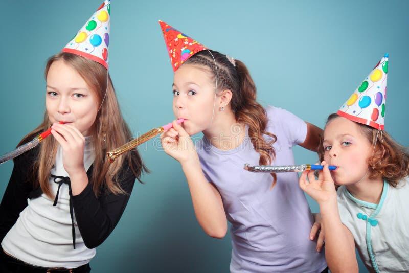 孩子生日聚会。 免版税库存照片