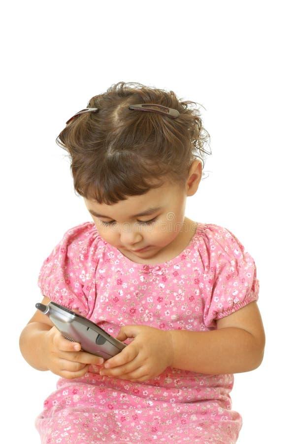 孩子电话 库存照片