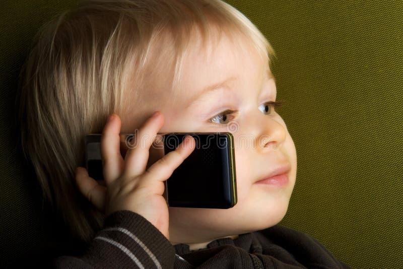 孩子电话 免版税图库摄影