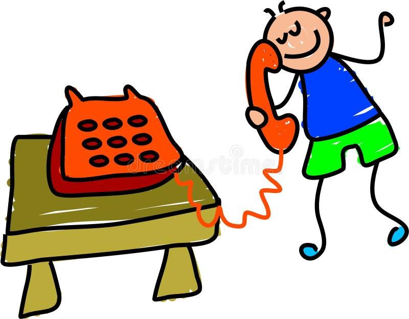 孩子电话 皇族释放例证