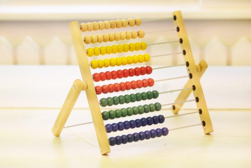 孩子的五颜六色的算盘 免版税库存图片