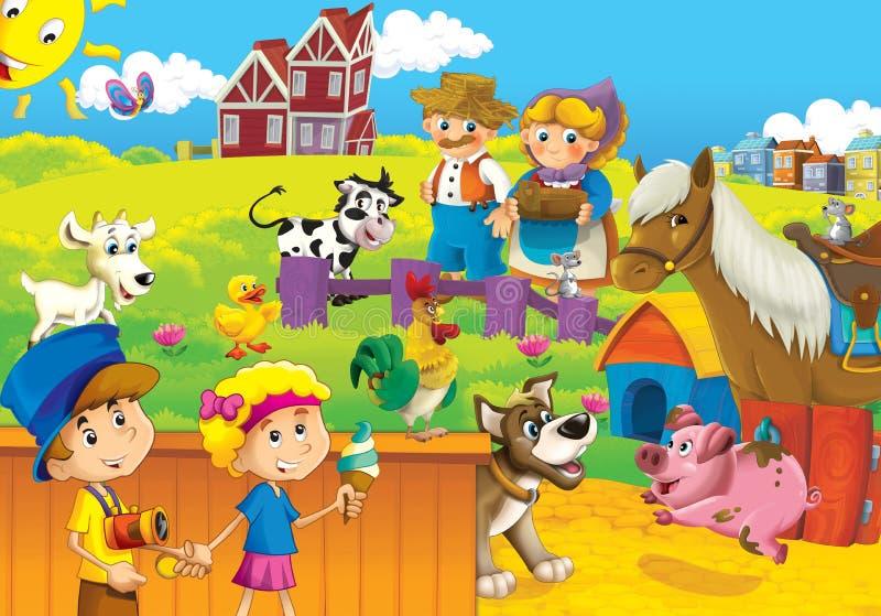 孩子的农厂例证 向量例证