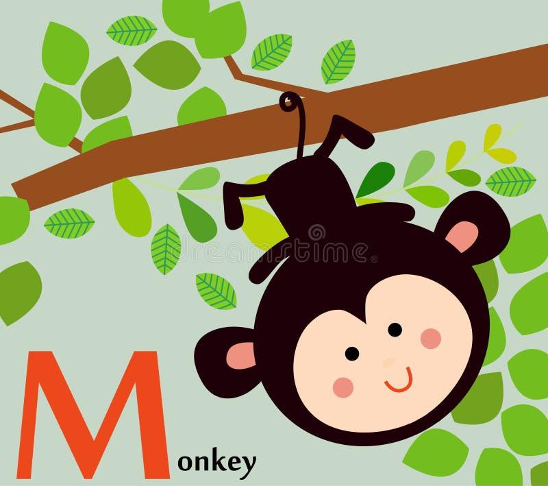 孩子的动物字母表:老虎的T 向量例证