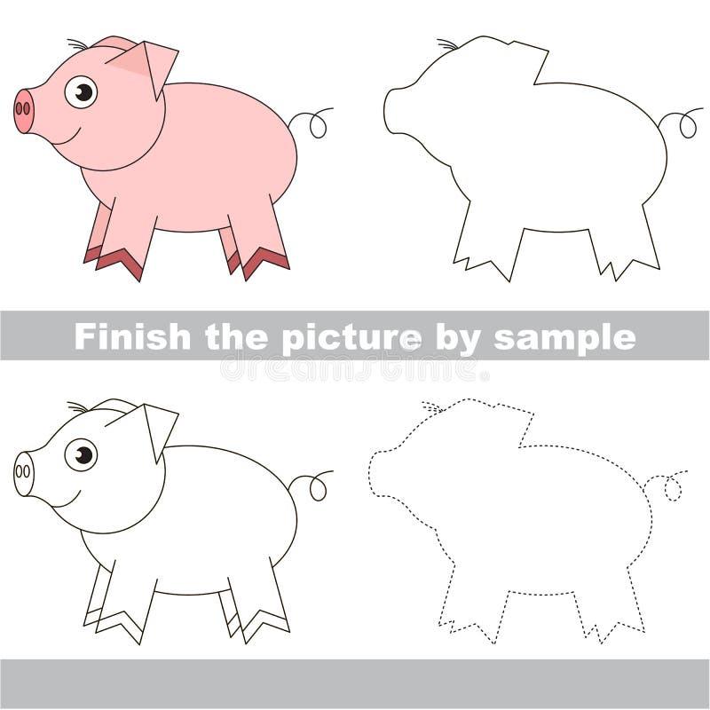 孩子的图画活页练习题 向量例证