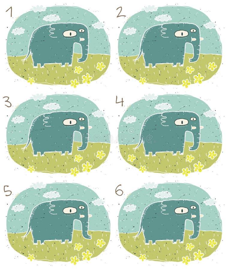 大象视觉比赛 库存例证