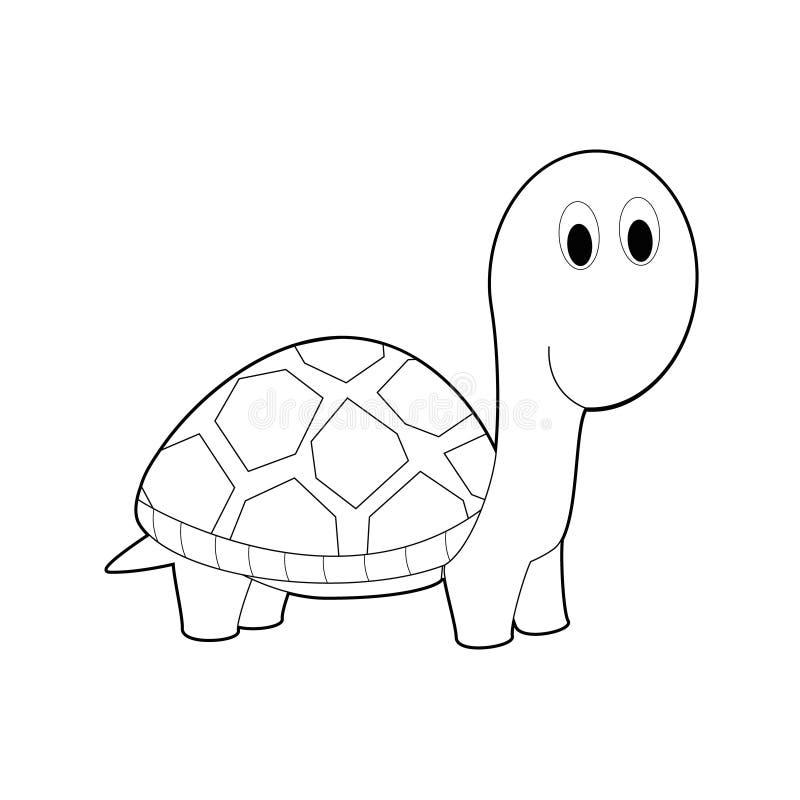孩子的容易的着色动物:乌龟 库存例证